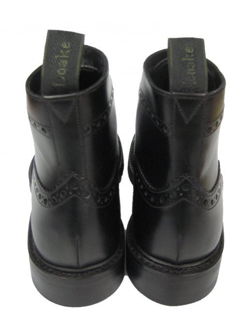 Rahmengenähte Loake Bedale Brogue Schuhe Boot Leder Budapester Stiefel Schwarz 4A3jR5L