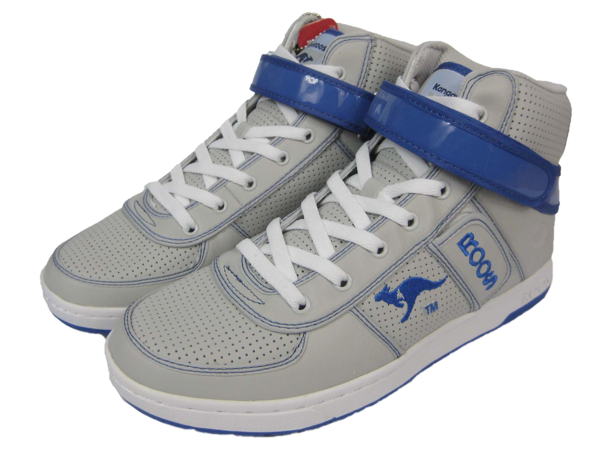 super popular 6433e b0ffc KangaROOS Skywalker-III 47004 Herren Schuhe Sneaker High Top grau / blau